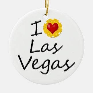 Ornamento De Cerâmica Eu amo Las Vegas