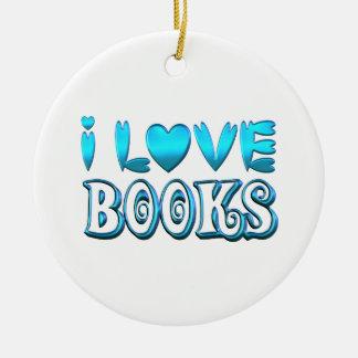 Ornamento De Cerâmica Eu amo livros