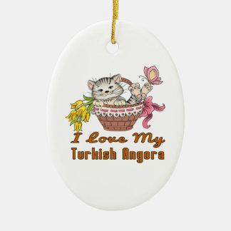 Ornamento De Cerâmica Eu amo meu angora turco