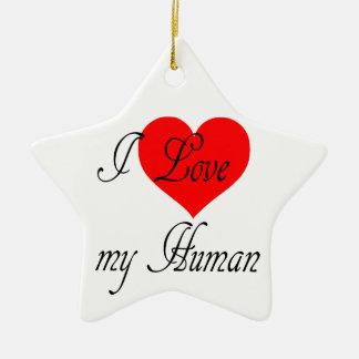 Ornamento De Cerâmica Eu amo meu ser humano
