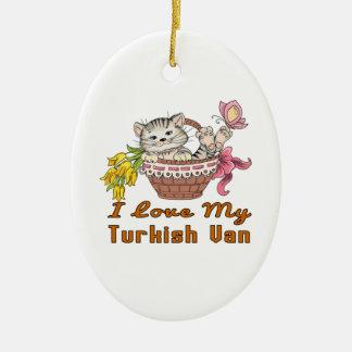 Ornamento De Cerâmica Eu amo meu Van turco
