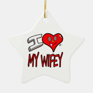 Ornamento De Cerâmica Eu amo meu Wifey