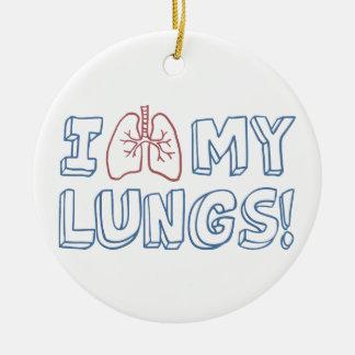 Ornamento De Cerâmica Eu amo meus pulmões