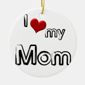 Ornamento De Cerâmica eu amo minha mamã
