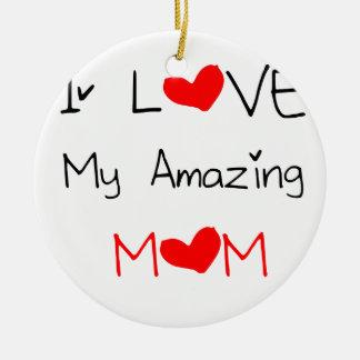 Ornamento De Cerâmica Eu amo minha mamã surpreendente