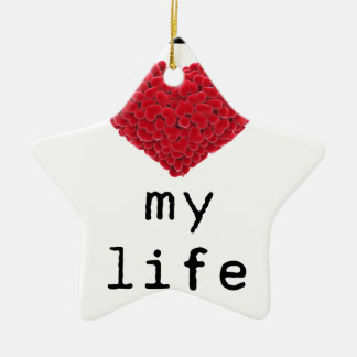 Ornamento De Cerâmica eu amo minha vida