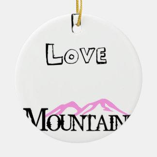 Ornamento De Cerâmica Eu amo montanhas
