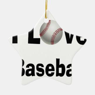 Ornamento De Cerâmica Eu amo o basebol