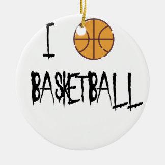 Ornamento De Cerâmica Eu amo o basquetebol