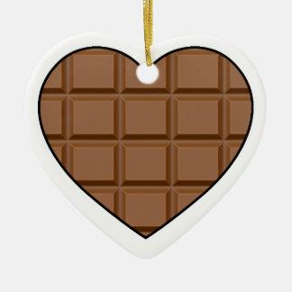 Ornamento De Cerâmica Eu amo o chocolate