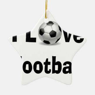 Ornamento De Cerâmica Eu amo o futebol