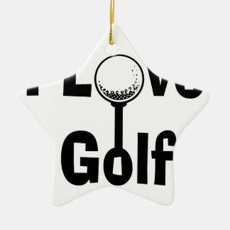 Ornamento De Cerâmica Eu amo o golfe