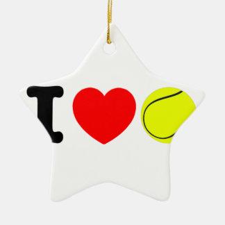 Ornamento De Cerâmica Eu amo o tênis