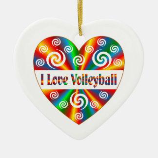 Ornamento De Cerâmica Eu amo o voleibol