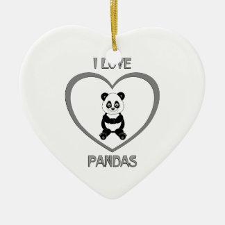 Ornamento De Cerâmica Eu amo pandas