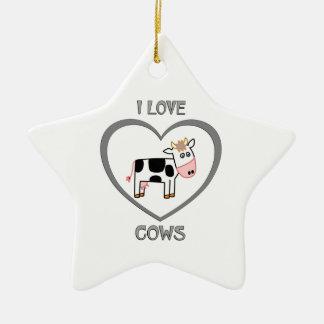 Ornamento De Cerâmica Eu amo vacas