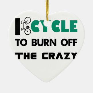 Ornamento De Cerâmica Eu dou um ciclo para consumir a louca, bicicleta