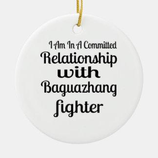 Ornamento De Cerâmica Eu estou em uma relação cometida com Baguazhang F