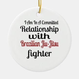 Ornamento De Cerâmica Eu estou em uma relação cometida com brasileiro Ji