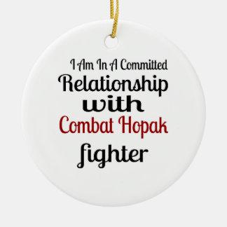Ornamento De Cerâmica Eu estou em uma relação cometida com combate Hopak