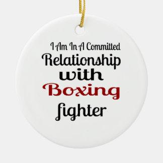 Ornamento De Cerâmica Eu estou em uma relação cometida com luta do
