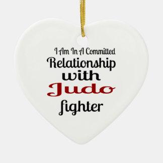 Ornamento De Cerâmica Eu estou em uma relação cometida com lutador do