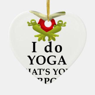Ornamento De Cerâmica eu faço a ioga que s seu poder super