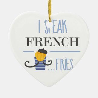 Ornamento De Cerâmica Eu falo o francês… Fritadas