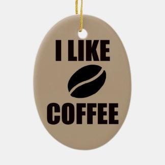 Ornamento De Cerâmica Eu gosto do café
