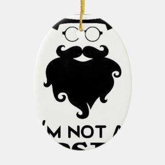 Ornamento De Cerâmica Eu não sou hipster