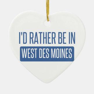 Ornamento De Cerâmica Eu preferencialmente estaria em Des Moines