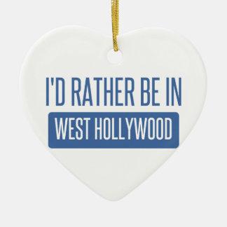 Ornamento De Cerâmica Eu preferencialmente estaria em Hollywood