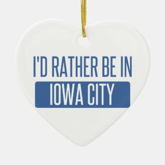Ornamento De Cerâmica Eu preferencialmente estaria em Iowa City