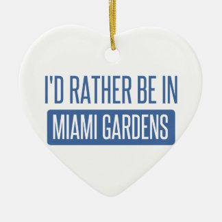 Ornamento De Cerâmica Eu preferencialmente estaria em jardins de Miami