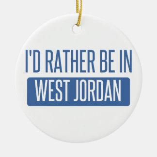 Ornamento De Cerâmica Eu preferencialmente estaria em Jordão ocidental