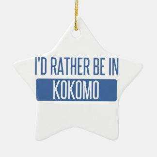 Ornamento De Cerâmica Eu preferencialmente estaria em Kokomo