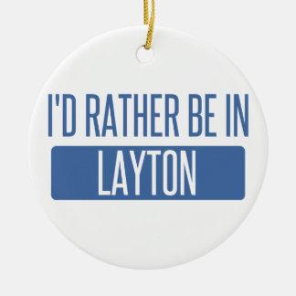 Ornamento De Cerâmica Eu preferencialmente estaria em Layton