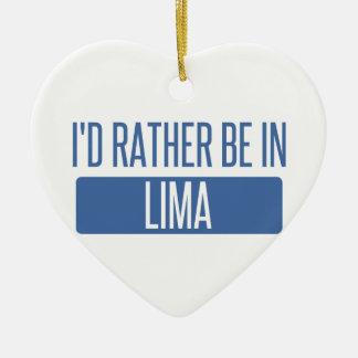 Ornamento De Cerâmica Eu preferencialmente estaria em Lima