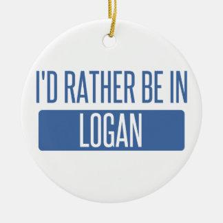 Ornamento De Cerâmica Eu preferencialmente estaria em Logan