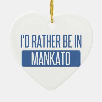 Ornamento De Cerâmica Eu preferencialmente estaria em Mankato