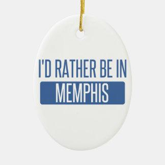 Ornamento De Cerâmica Eu preferencialmente estaria em Memphis