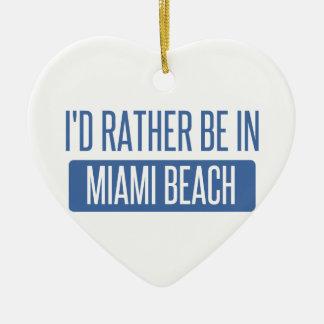 Ornamento De Cerâmica Eu preferencialmente estaria em Miami Beach