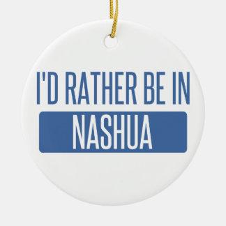 Ornamento De Cerâmica Eu preferencialmente estaria em Nashua
