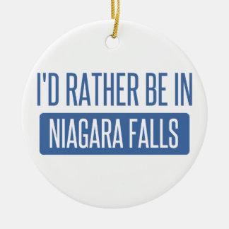 Ornamento De Cerâmica Eu preferencialmente estaria em Niagara Falls