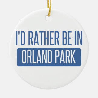 Ornamento De Cerâmica Eu preferencialmente estaria em Orland Park