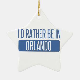 Ornamento De Cerâmica Eu preferencialmente estaria em Orlando