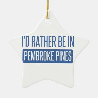 Ornamento De Cerâmica Eu preferencialmente estaria em pinhos do Pembroke