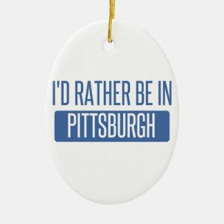 Ornamento De Cerâmica Eu preferencialmente estaria em Pittsburgh