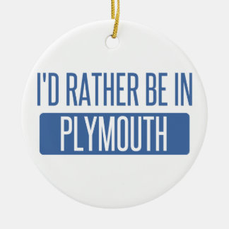Ornamento De Cerâmica Eu preferencialmente estaria em Plymouth