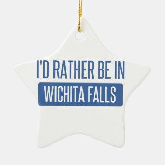 Ornamento De Cerâmica Eu preferencialmente estaria em quedas de Wichita